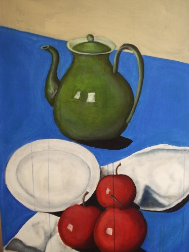 Apples on table still life