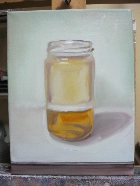 Studio jar with yogurt