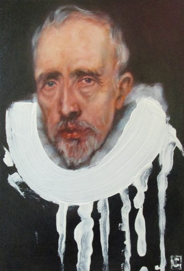 Titianium white. after Anthony van Dyck 'Portrait of Cornelis van der Geest' 2016