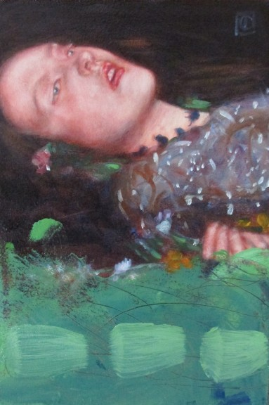Light green with cadmium after John Everett Millais , 'Ophelia' - Copy