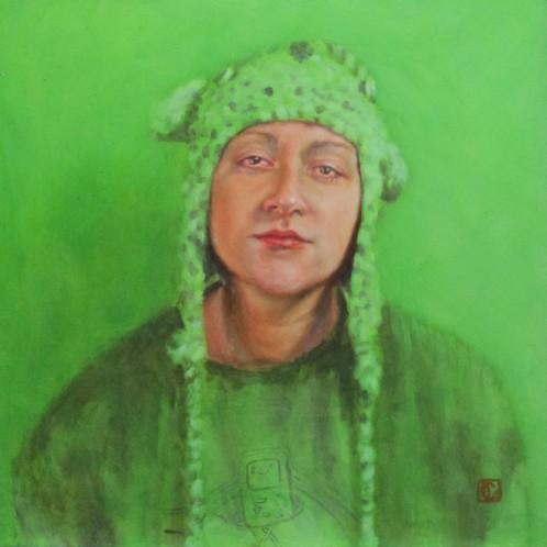 Bear hat in green