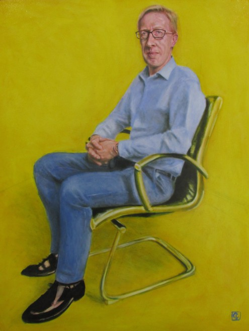 Ian Goodwin with ultramarine blue and indian yellow