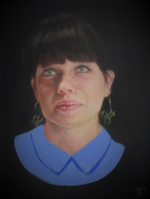 Katie Patterson, with ultramarine and titanium white