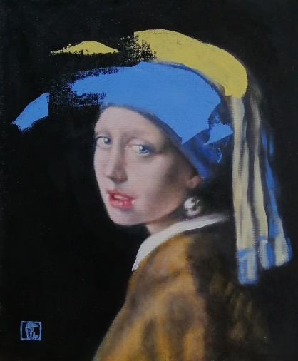 Ultramarine blue No2, after Vermeer's Girl with a pearl earring