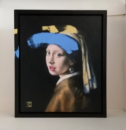 Ultramarine blue No3, after Vermeer's Girl with a pearl earring