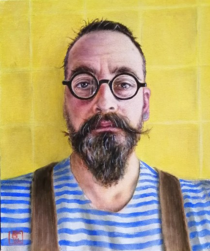 Self portrait during lockdown 2020