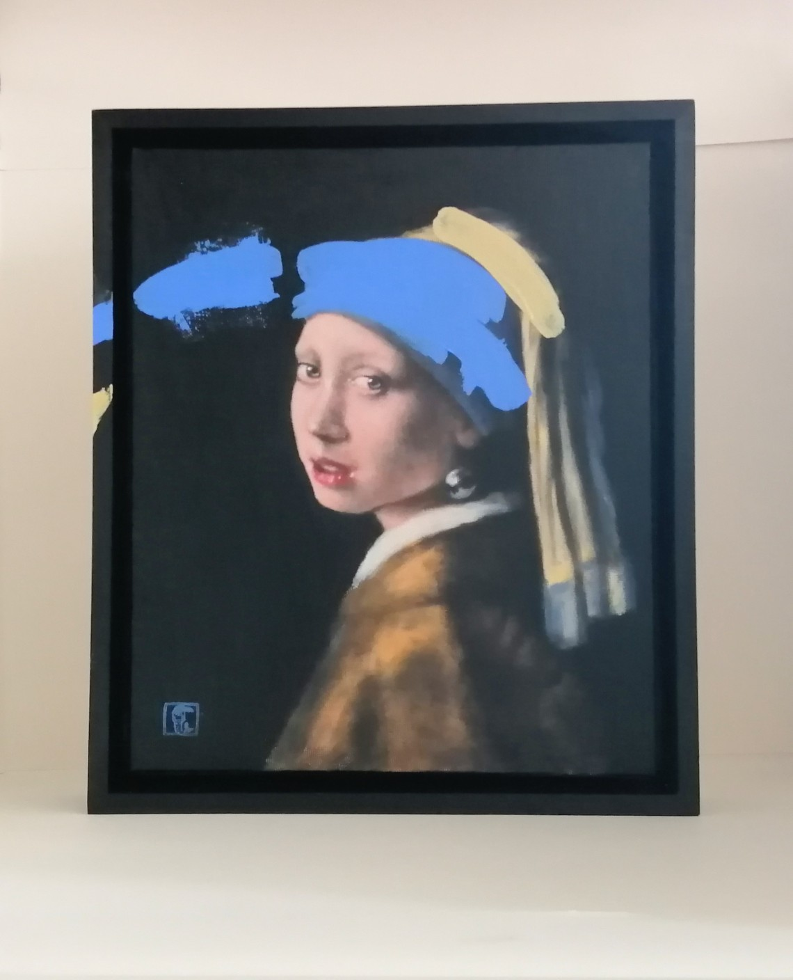 Ultramarine blue No4, after Vermeer's Girl with a pearl earring